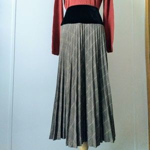 🍁🍂Houndstooth pattern Pleated skirt